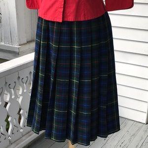 Classic Pendleton pleated skirt